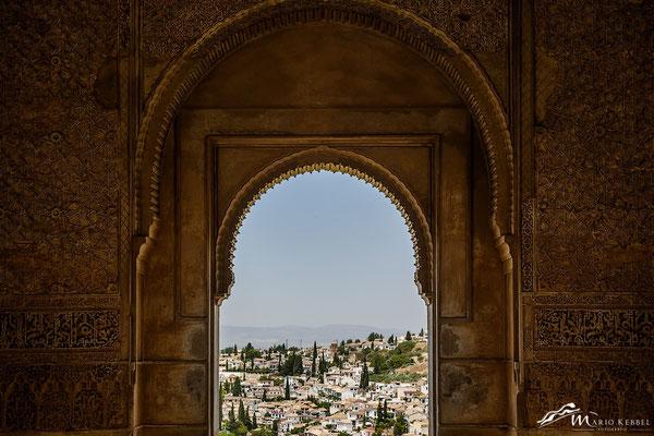 Von der Alhambra ein Blick auf Granada
