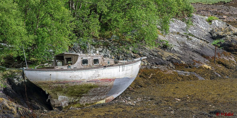 Boot am Loch Leven
