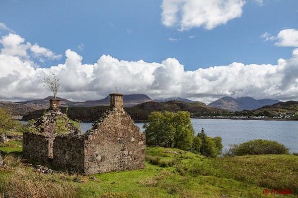 Verfallenes Cottage am Loch Shieldaig