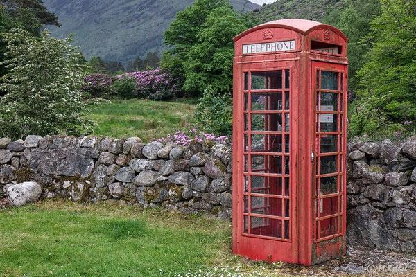 Telefonzelle in Glen Coe
