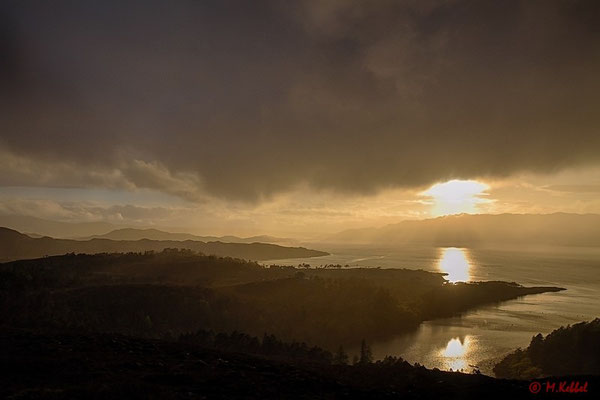 Sonnenuntergang am Loch Torridon