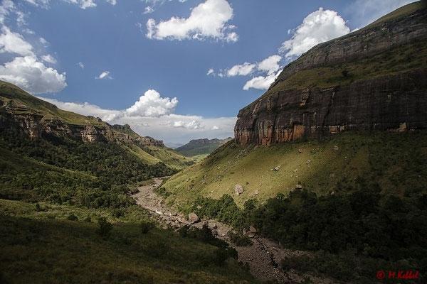Licht und Schatten im Royal Natal National Park