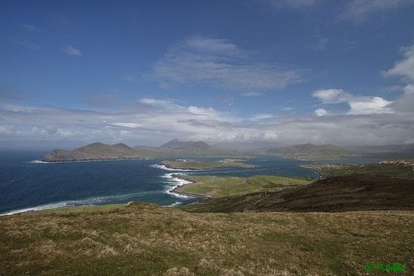 Blick vom Mt Geokaun auf Valentia Island