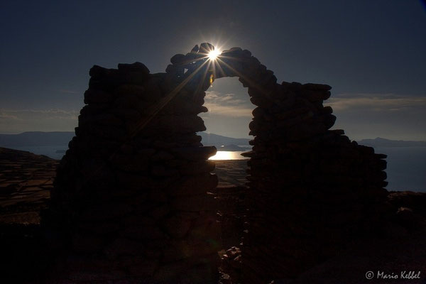 Tor zur Sonne auf der Insel Amantani im Titicaca-See