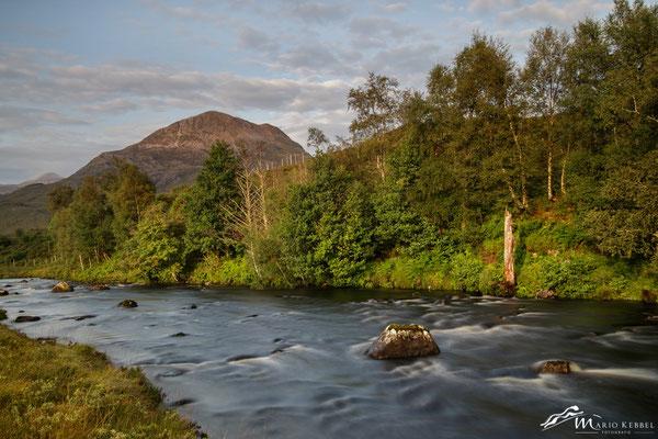 Am Loch Clair mit Blick auf Beinn Alligin