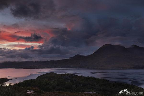Sonnenuntergang am Upper Loch Torridon