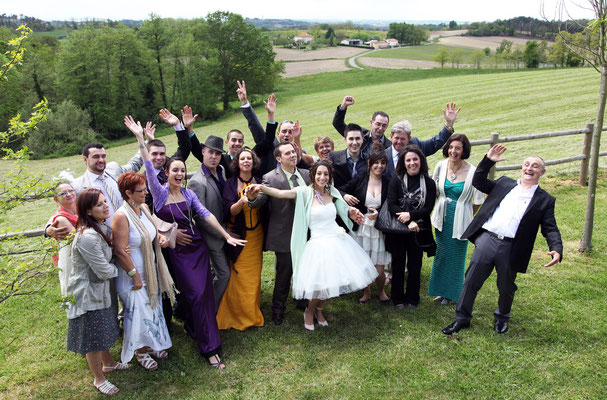 Photo de groupe. Photographe mariage Toulouse, Albi, Tarn, Lavaur