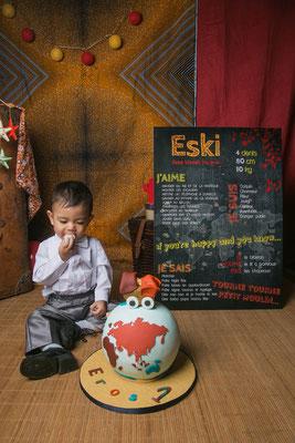 Séance photo d'anniversaire toulouse, photographe bébé toulouse, portrait bébé 1 an