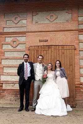 Photo de groupe. Photographe de mariage sur Toulouse, photographe de mariage dans le Tarn, photographe de mariage sur Lavaur, photographe de mariage sur Albi.