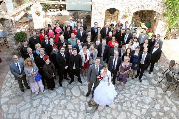 Photo de groupe. Photographe mariage Toulouse, Albi, Tarn, Lavaur
