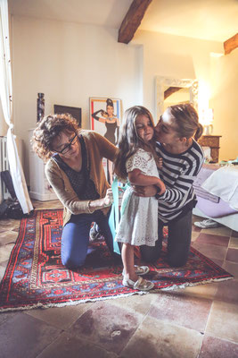 photographe mariage, photo de préparatif des enfants