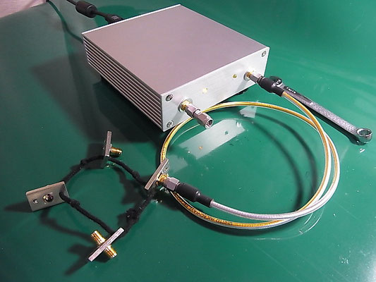 Port2 に OPEN標準器を接続した様子