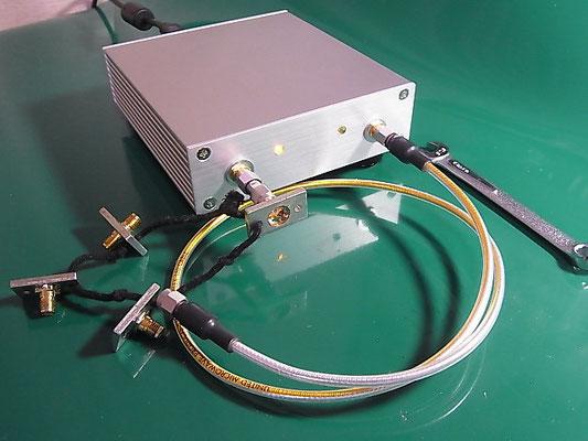 Port1 に OPEN標準器を接続した様子