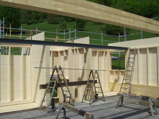 Aufstockung Fähndrich (auf bestehendes EFH, inkl. Anbau Treppenhaus)