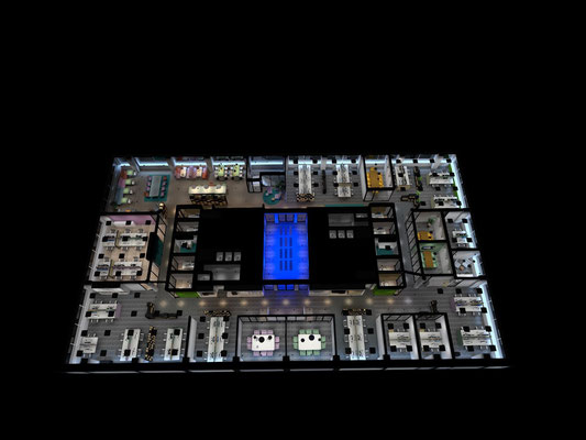 Lichtplan BinTTec. ©Fuse Elektrotechniek