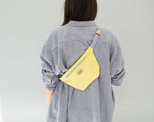 Bauchtasche gelb - Ubangi - Tasche gelb - Bauchtasche Ubanig gelb - Crossbodybag - Crossbodytasche