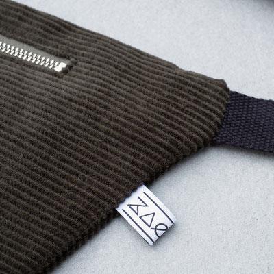 Cord - Bauchtasche - Baumwolle - Baumwollgurt - flaschengrün - Zacamo - dunkelgrün - Tasche - Handtasche
