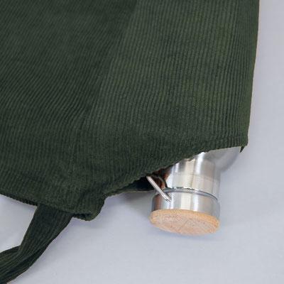 Schultertasche aus Cord, dunkelgrün, Zacamo