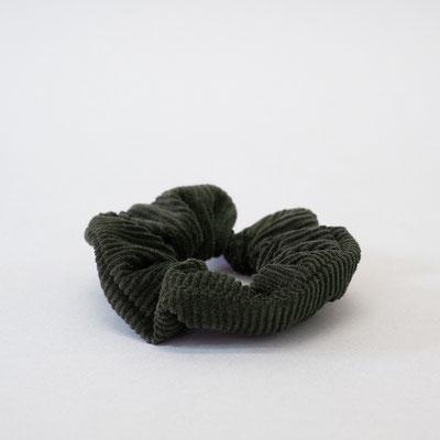 Scrunchie flaschengrün- Haargummi - Haargummi Cord - Haargummi grün - Zacamo