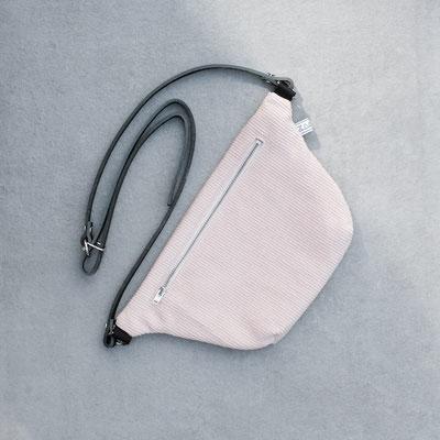 Bauchtasche - Gürteltasche - Lederriemen - Cord - Tasche rosa - Damentasche - Umhängetasche - puderrosa - Zacamo - Bauchtasche Cord