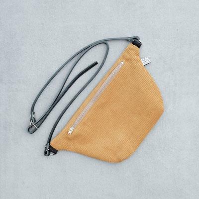 Bauchtasche Cord - Bauchtasche - Tasche - currygelb - gelb - Tasche - dunkelgelb - Bumbag - Crossbodybag - zacamo