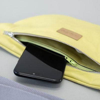 Bauchtasche gelb - Bauchtasche Ubangi gelb - Innenfach - Tasche mit Innenfach - Zacamo