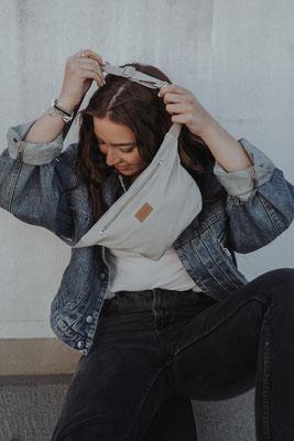 Zacamo - Bauchtasche- graue Tasche - Damentasche - Outfitinspiration - praktische Tasche