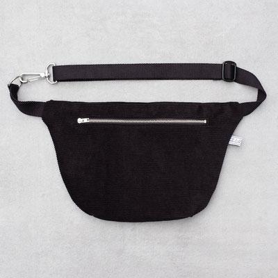 Bauchtasche Cord L tiefschwarz - Crossbodybag - Bumbag - Zacamo - Cord - schwarz - tiefschwarz - Cordtasche - Herrentasche - Männertasche - Zacamo