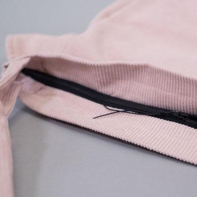 Große Beuteltasche aus Cord, rosa, Zacamo