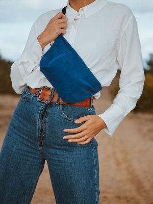 Bauchtasche Cord L kobaltblau - Cordtasche - ZACAMO - Tasche - Tasche blau - Handtasche kobaltblau - Streetstyle - Cordtasche
