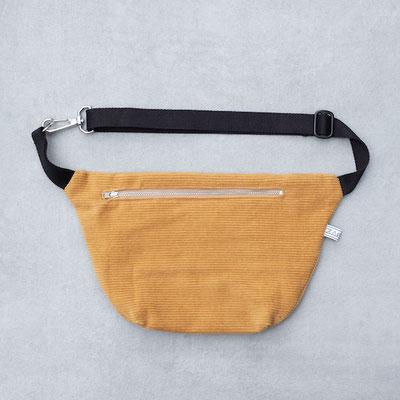 Bauchtasche Cord  L - Cordtasche - Bauchtasche groß - große Bauchtasche - Handtasche - Umhängetasche Cord - Cord Outfit - Fairwear - Zacamo