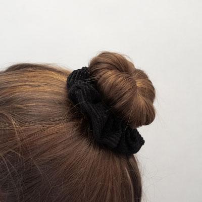 dunkle Haargummis - Scrunchies dark - dark - dusk - schwarz - dunkel - Dutt - Bun - Zacamo