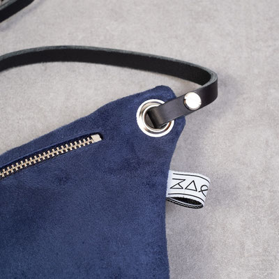 Zacamo - Bauchtasche Zacamo - Bauchtasche Suede blau - Tasche - Handtasche - Umhängetasche - Crossbodybag - Bumbag - Bumbag blau -