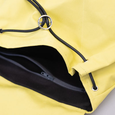 Kleiner Rucksack, gelb, fair, Zacamo
