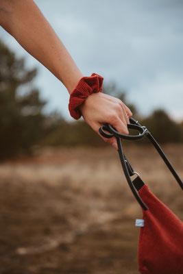 Accessoire Cord - Zacamo - Haargummi Cord - Scrunchie Cord - rot - Rotes Haargummi