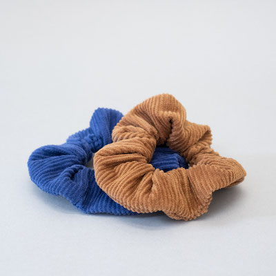 Zacamo - Scrunchie Set - kobaltblau - kamelbraun - braun - blau - Haargummi