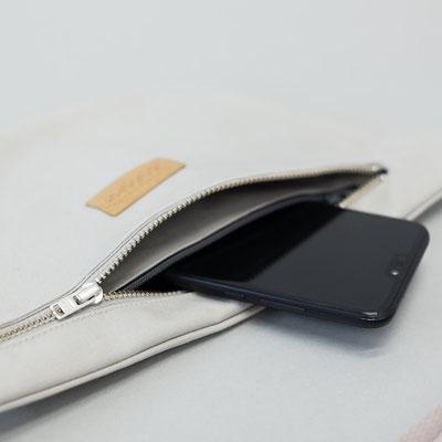 Umhängetasche - Bumbag - Zacamo - Crossbodybag - graue Tasche - Brusttasche - Beuteltasche