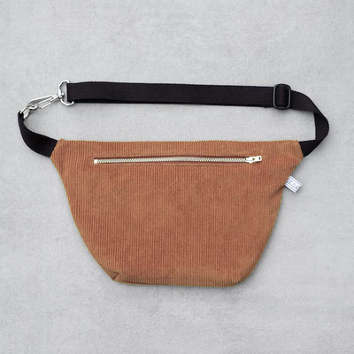 Bauchtasche Cord L kamelbraun - Bauchtasche Cord - Zacamo - Cordtasche - Cord - Cordstoff - braun - hellbraun - Bumbag - Crossbodybag - Reißverschluss -
