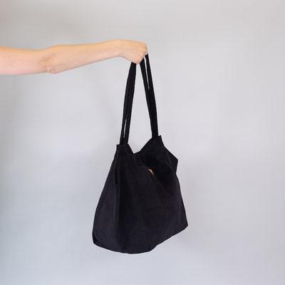 Shopper aus Cord, schwarz, Zacamo