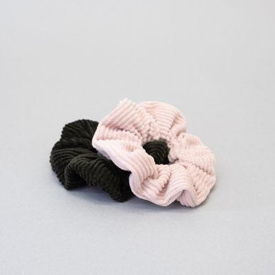 Scrunchie rosa - Scrunchie grün - Scrunchie Set - Zacamo - Stoffreste - nachhaltig