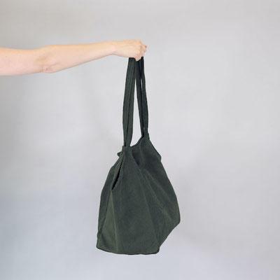 Shopper aus Cord, dunkelgrün, Zacamo