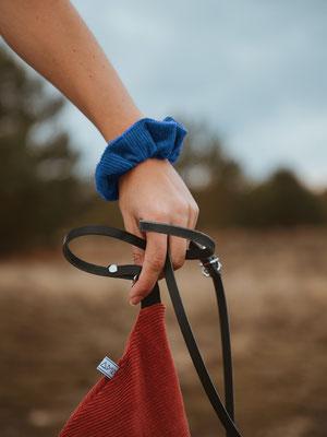 Scrunchie blau - Accessoires blau - Haargummi blau - Zopfgummi - Streetstyle - nachhaltig - Fairwear