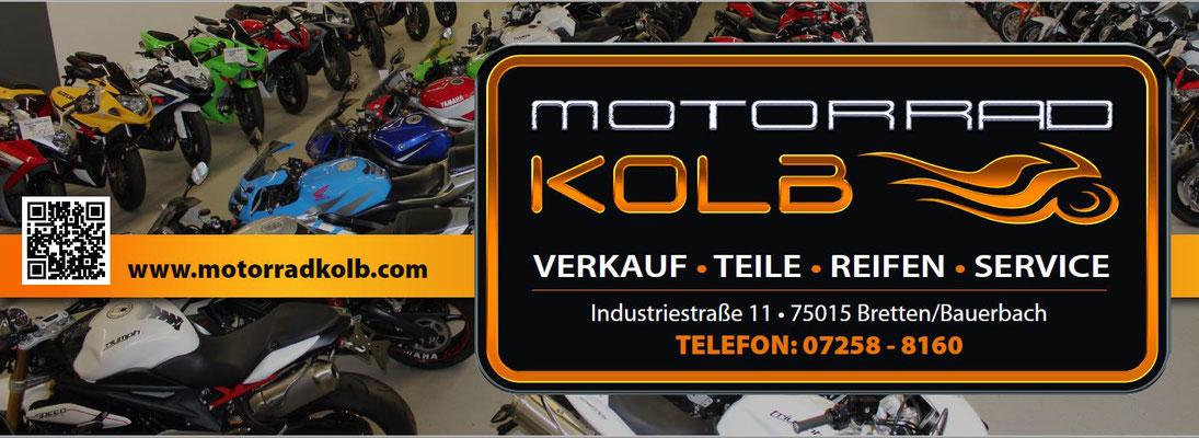 Werbeanzeige Motorrad Kolb