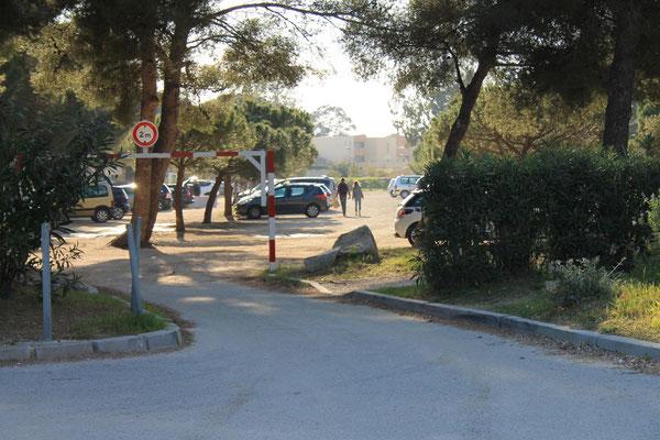 Kostenloser Parkplatz am Plage de l'Argentière