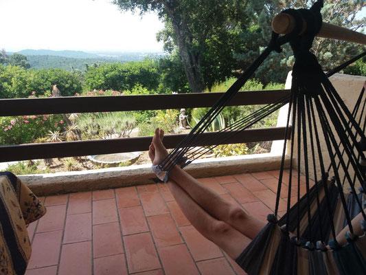 Füße hochlegen und entspannen...