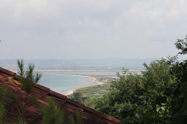 Blick über die Salinen Richtung Festland