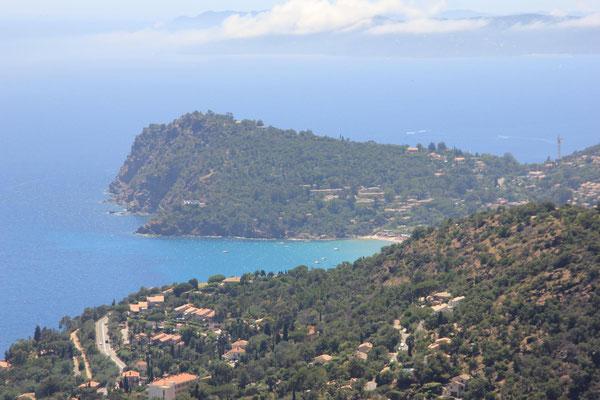 Blick vom Col du Canadel auf Le Lavandou