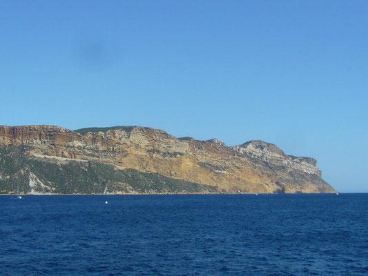 Unser letztes Ziel für heute: Die Steilklippen von Cassis!