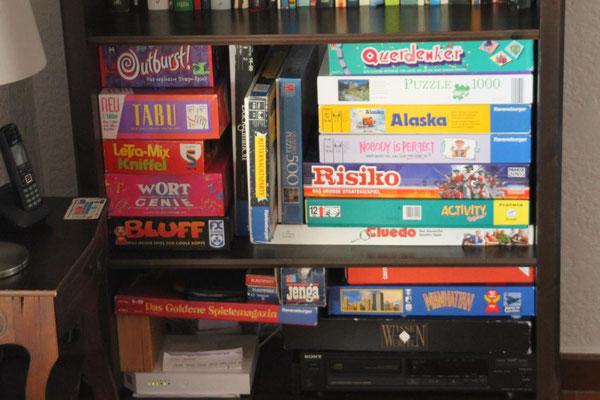 ...sowie zahlreiche lustige Gesellschaftsspiele