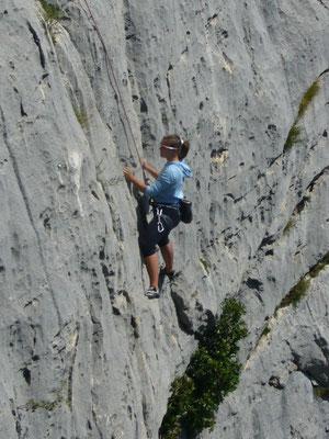 Kletten, wie hier in den Gorges-du-Verdon